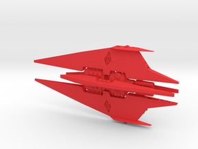 Narn - Bin'Tak Dreadnought (w/o base) (9 x / 4.272 in Red Processed Versatile Plastic