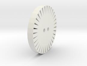 String Spinner in White Natural Versatile Plastic: Small