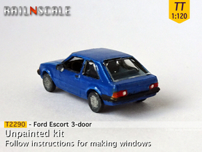 Ford Escort 3-door (TT 1:120) in Smooth Fine Detail Plastic