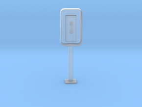 Printle Thing Phonebooth - 1/24 in Smooth Fine Detail Plastic