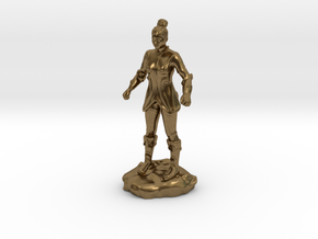 Female Human Fighter with Elven influenced armor. in Natural Bronze