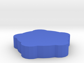 Game Piece, Round Walls, Round Towers in Blue Strong & Flexible Polished