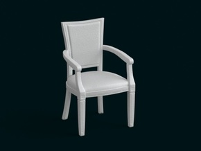 1:10 Scale Model - ArmChair 01 in White Strong & Flexible