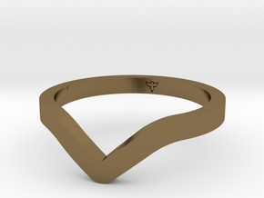 Dip Ring Sizes 6-13 in Polished Bronze: 6 / 51.5
