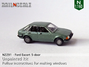 Ford Escort 5-door (N 1:160) in Smooth Fine Detail Plastic