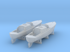1/350 DKM Boat 9m Captain Gig Set in Smooth Fine Detail Plastic
