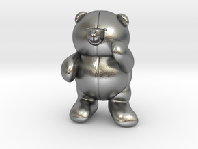 Pocket bear in Natural Silver