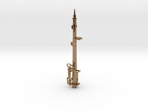 HO NSWR LQ Signal 18 ft Post + Parts in Natural Brass