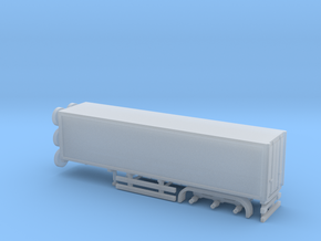 N Gauge Articulated Lorry Box Trailer in Smooth Fine Detail Plastic