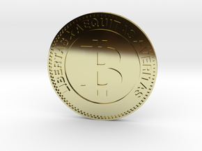 Bitcoin in 18k Gold Plated Brass