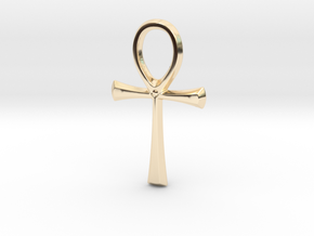 Ankh in 14k Gold Plated Brass
