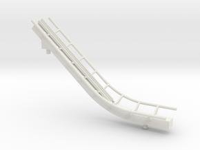Rail up 1 in White Natural Versatile Plastic
