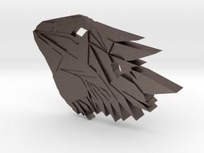 Bearded Dragon Pendant in Polished Bronzed Silver Steel