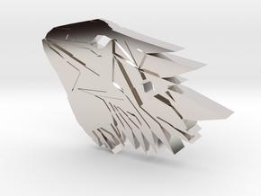 Bearded Dragon Pendant in Platinum