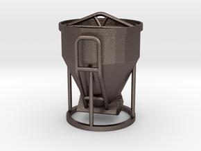 1:50 Betonkubel / Cement bucket / Cubo de cemento in Polished Bronzed Silver Steel