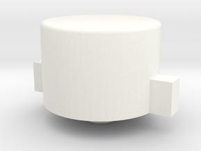 Boneclone CD32 - Blue/Green/Yellow Button in White Processed Versatile Plastic