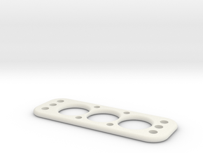PAT13 Battery Mount - V3  in White Natural Versatile Plastic