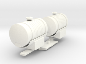 1:32 Saddle Tanks  in White Processed Versatile Plastic: 1:32