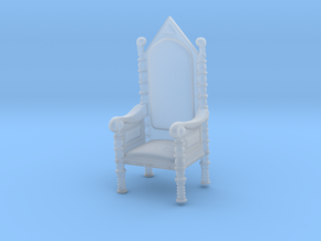 Printle Thing Throne - 1/87 - wob in Smooth Fine Detail Plastic