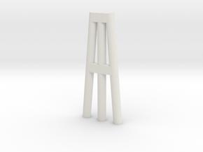 Duckdalben 3er rund mit Innenstreben 1:120 in White Natural Versatile Plastic
