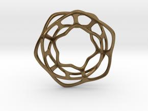 Hex Möbius, 48mm in Natural Bronze