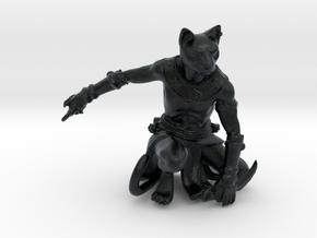 Tabaxi Rogue (Male) in Black Hi-Def Acrylate