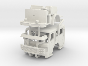 1/64 ALF Eagle flat roof, ext length w/ interior in White Natural Versatile Plastic