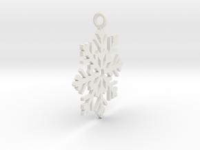 Snow Fall in White Natural Versatile Plastic