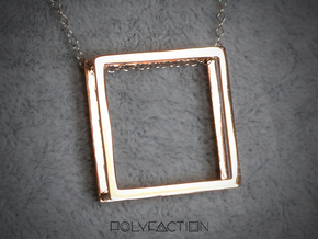 Wire ::: Square Pendant ::: v.01 in 14k Rose Gold Plated Brass