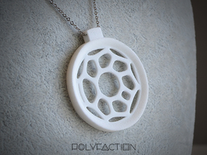 Surround ::: Circle Pendant ::: v.01 in White Natural Versatile Plastic