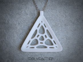 Surround ::: Triangle Pendant ::: v.01 in White Natural Versatile Plastic