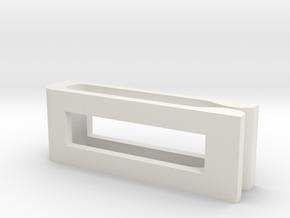 Tie Clip in White Natural Versatile Plastic