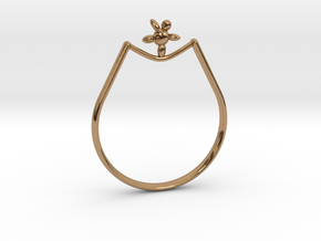 Rope walker Ring in Polished Brass: 9 / 59