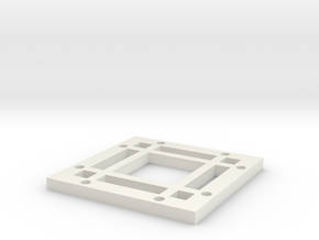 "2x2 Magnetic Base for 1.25"" grid(4 beams) in White Natural Versatile Plastic"