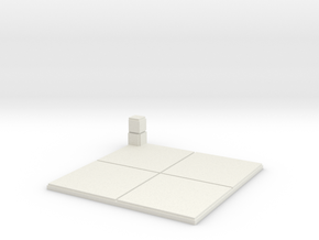 2x2 for 1.25 inch grid:Corner pillar in White Natural Versatile Plastic