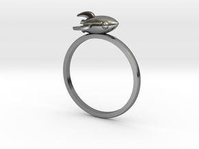 Mini Rocket Ring in Fine Detail Polished Silver