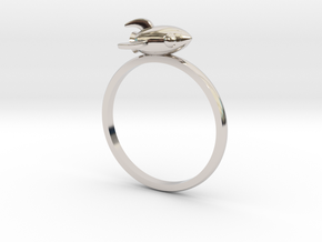 Mini Rocket Ring in Platinum