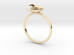 Mini Rocket Ring in 14k Gold Plated Brass