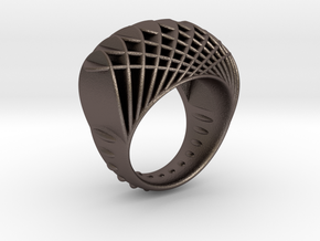ring-dubbelbol-metaal / double concave metal in Stainless Steel: 6.5 / 52.75