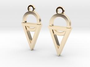 Dainty Geometric Earrings in 14k Gold Plated Brass