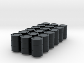 18 HO scale oil drums in Black Hi-Def Acrylate