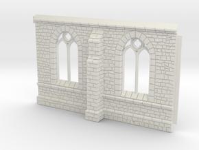 HORelM0101 - Gothic modular church in White Natural Versatile Plastic
