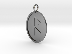 Beorc Rune (Anglo Saxon) in Polished Silver