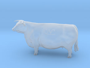 1/64 Horned Hereford Cow1 in Smooth Fine Detail Plastic