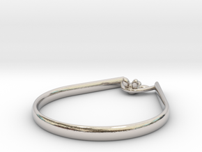 Rope Sitter ring in Rhodium Plated Brass: 9 / 59