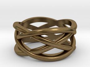 Cross Ring in Natural Bronze: 5 / 49