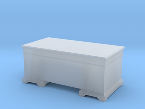 1/56th (28 mm) scale office desk in Smooth Fine Detail Plastic