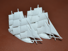 1/1000 1812 War Fleet in White Natural Versatile Plastic