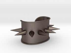 Harley Quinn Spiked Cuff - Original in Polished Bronzed Silver Steel