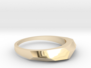 faceted ring in 14k Gold Plated Brass